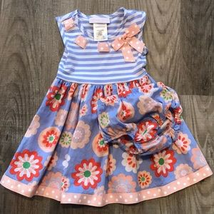 Toddler Girl Dress with matching diaper cover
